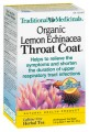 TRADIONAL MEDICINALS LEMON ECHINACEA THROAT COAT TEA 20 BAGS