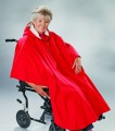 UNISEX ADAPTIVE WHEELCHAIR CLOTHING LINED CAPE RED