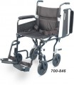 AIRGO COMFORT PLUS TRANSPORT CHAIRS 19 INCH WITH FOOTRESTS